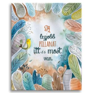 personalized canvas print with text and foliage illustration