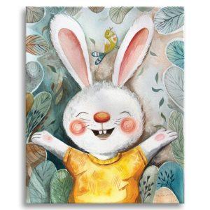 Little rabbit ready for a hug canvas print