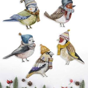 Little birds decoration set