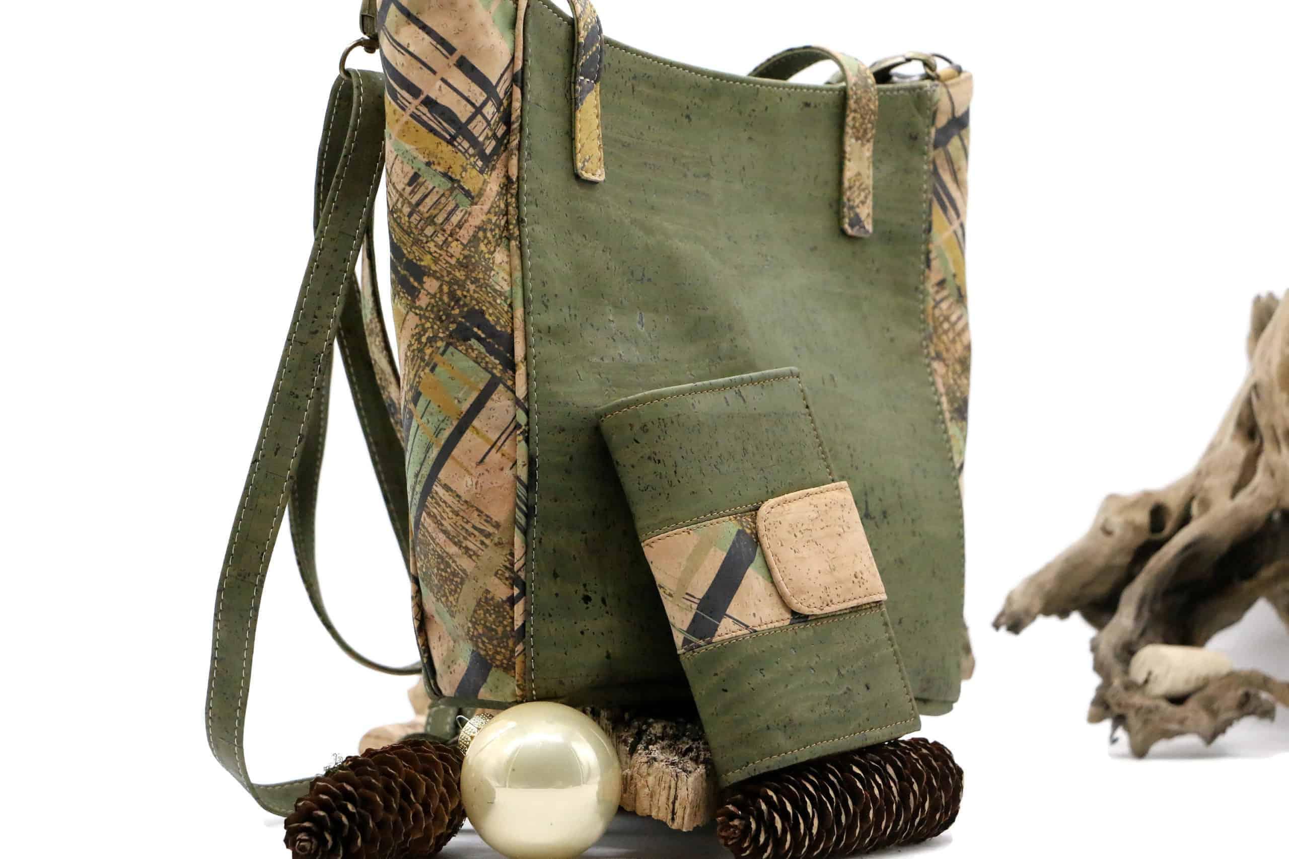 Kork Set - Kork Handtasche und Geldbörse