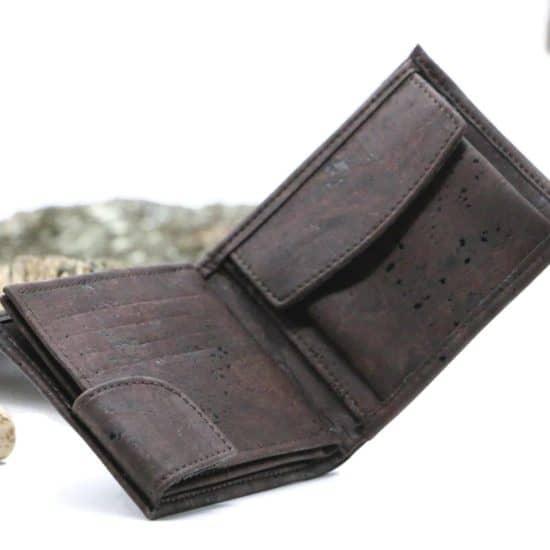 Kork Geldböre mit Druckknopf von Malandro Fashion