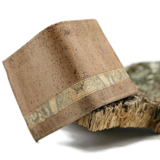 Kork Geldbörse coffee brown