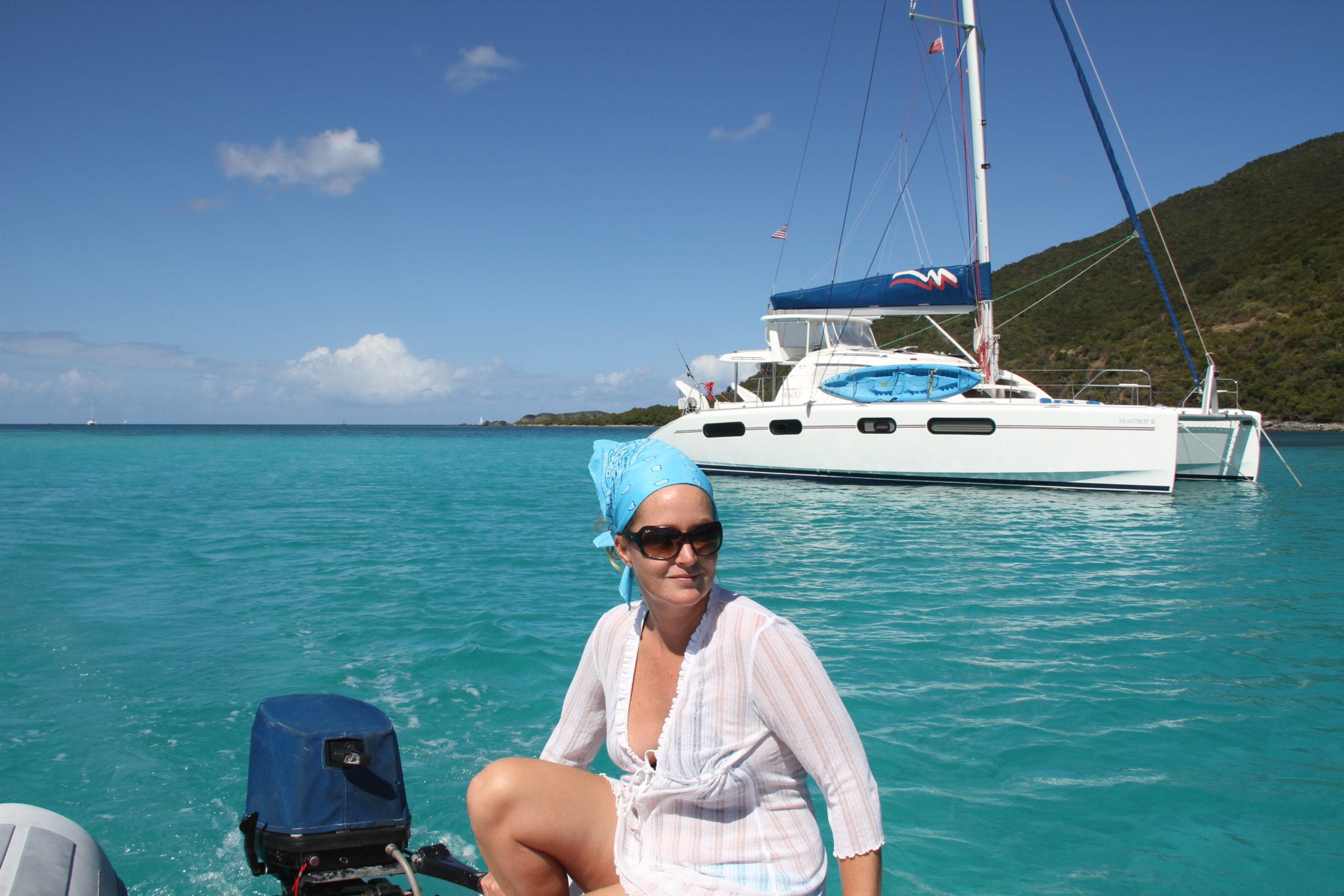 als Chef auf dem Tender in der Karibik - Simone Embacher  - Buttervogel