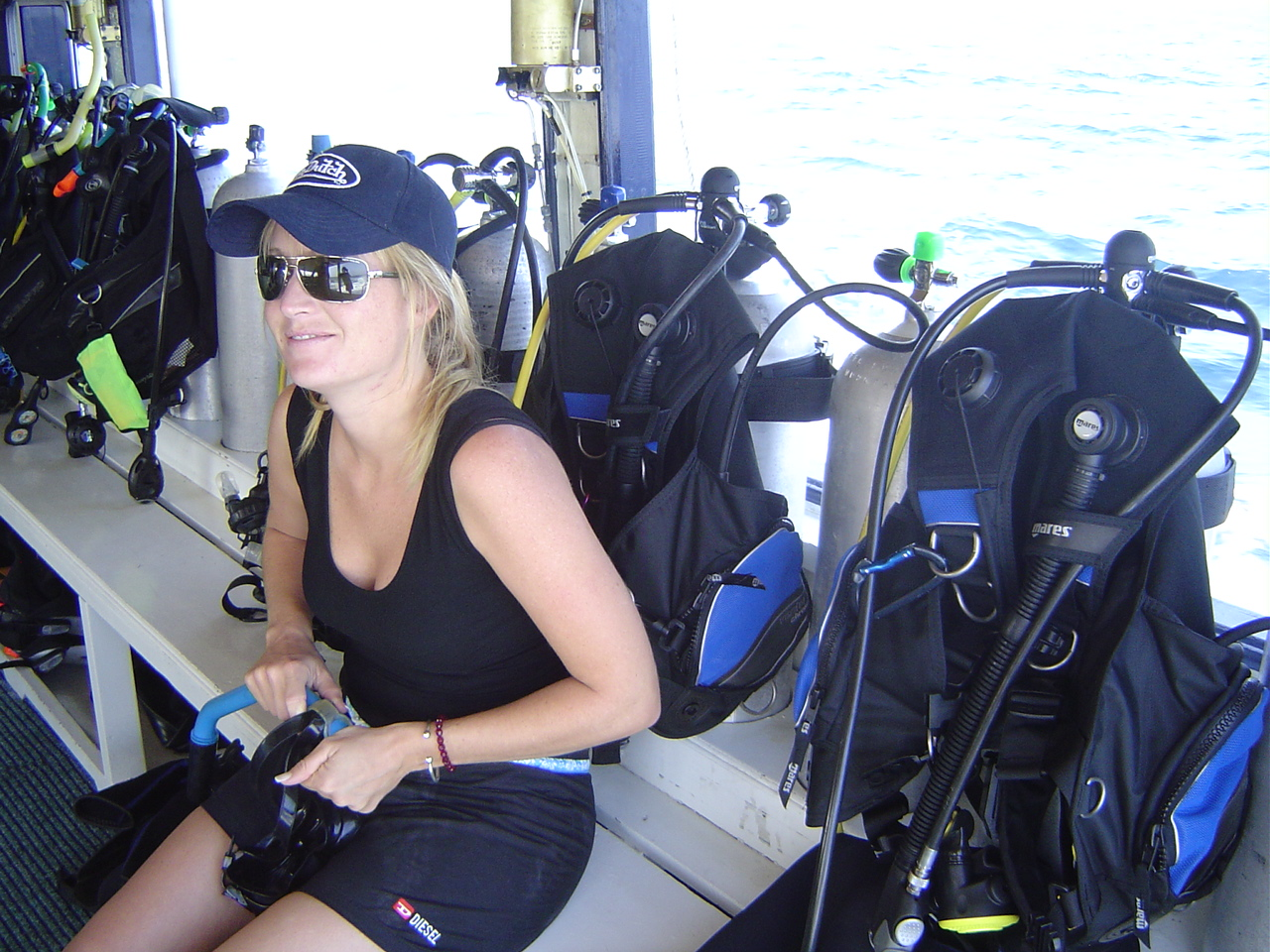 als Divemaster in Thailand - Simone Embacher -Buttervogel