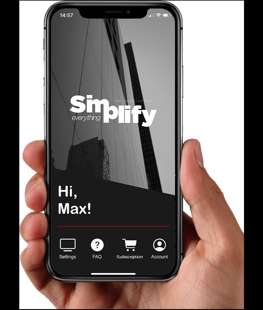 Simplify iOS app