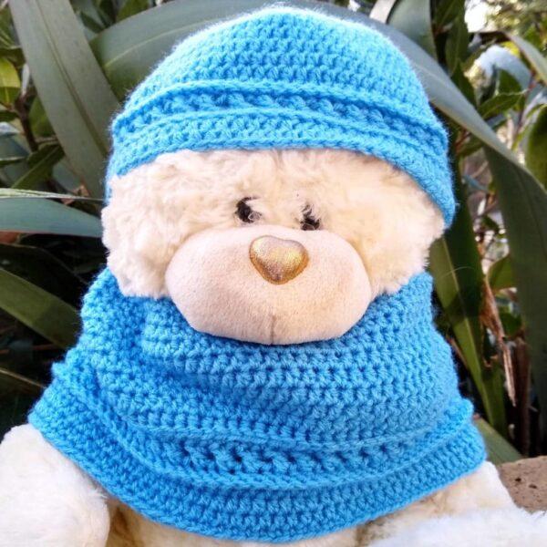 Crochet Toddler Blue Cowl & Hat Set - product image 2