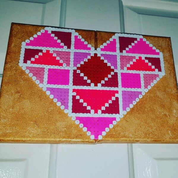 Geometric Love Heart Canvass - product image 3
