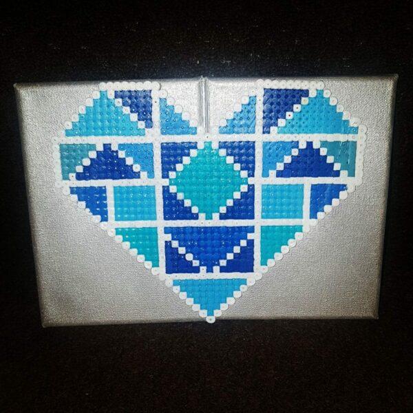 Geometric Love Heart Canvass - main product image