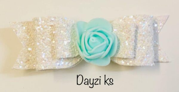 Flower glitter bow clips set - product image 2