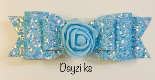 Flower glitter bow clips set - product image 3