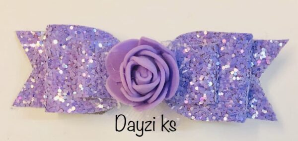 Flower glitter bow clips set - product image 4