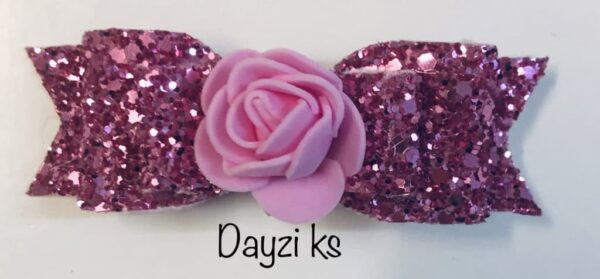Flower glitter bow clips set - product image 5