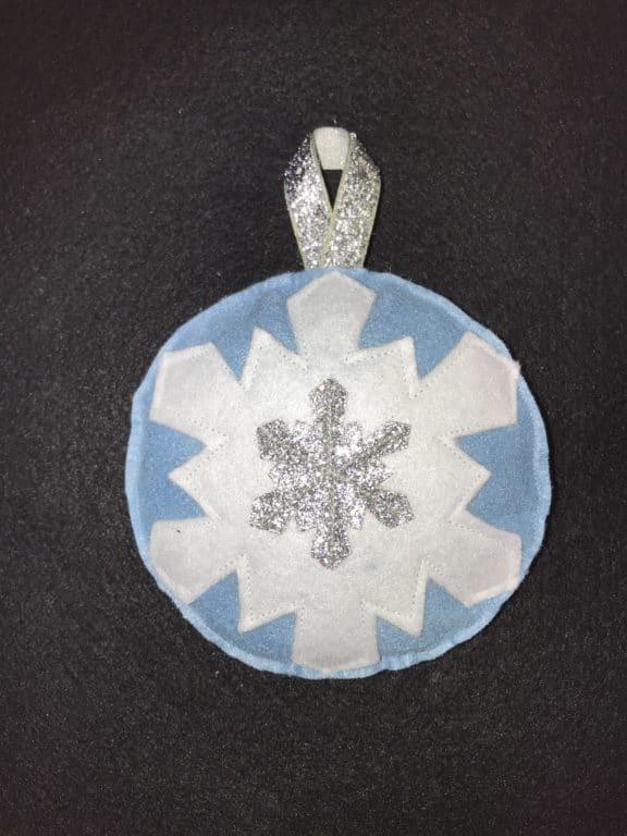 Snowflakes Falling bauble - main product image