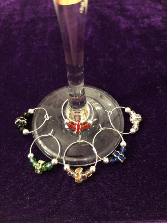 Wine glass charms - main product image