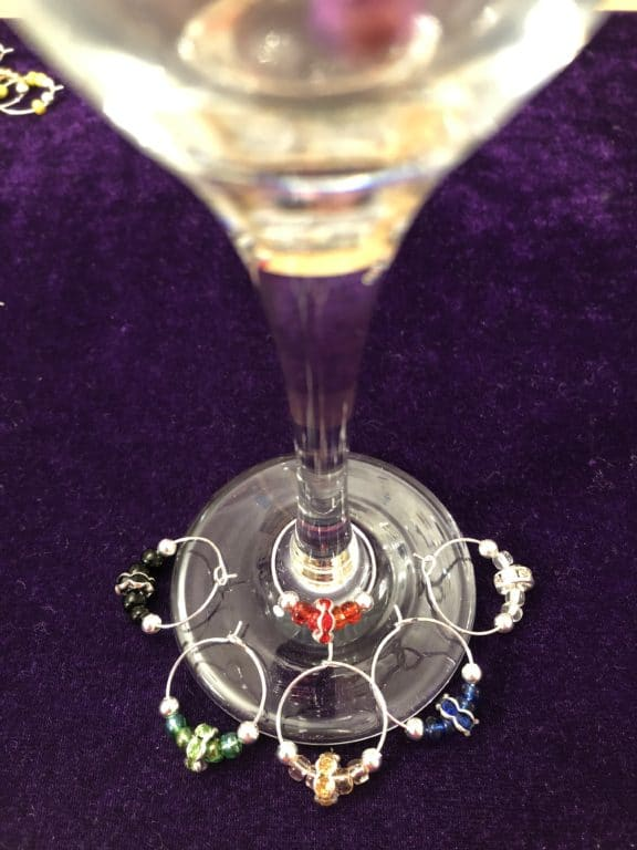 Wine glass charms - product image 2