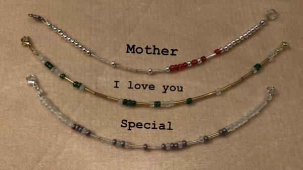 Morse Code bracelet - main product image