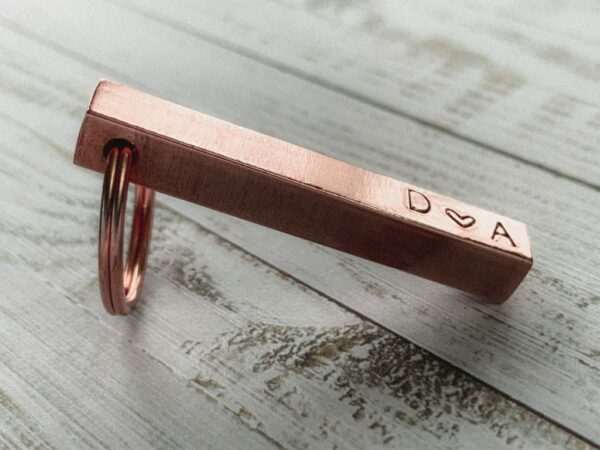 Copper Bar Key Ring - main product image