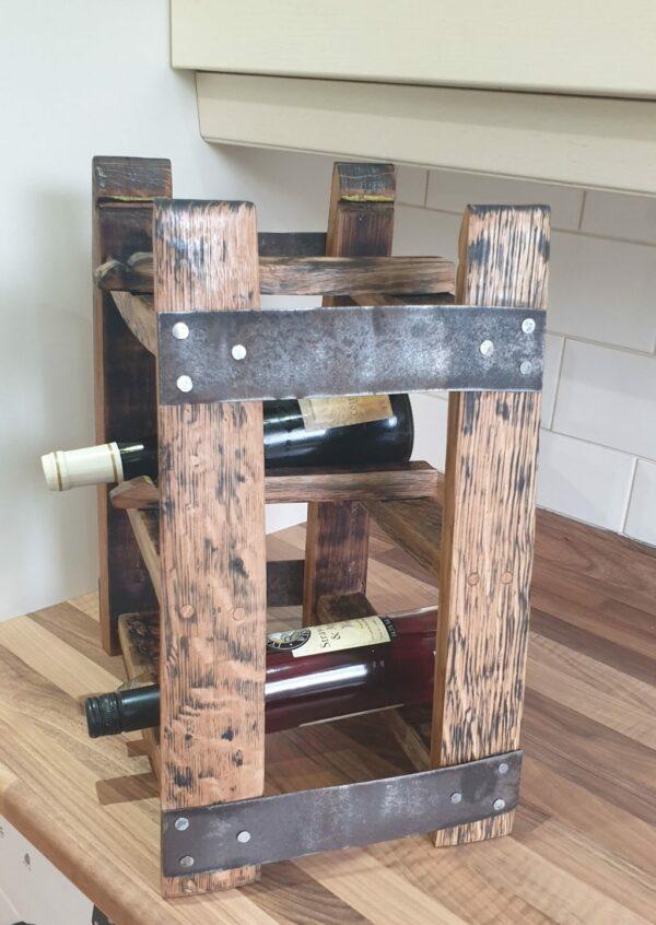 Tabletop oak whisky barrel stave wine rack - product image 2