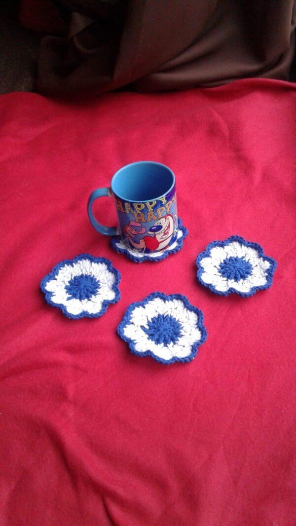 4 Crochet Coasters - main product image