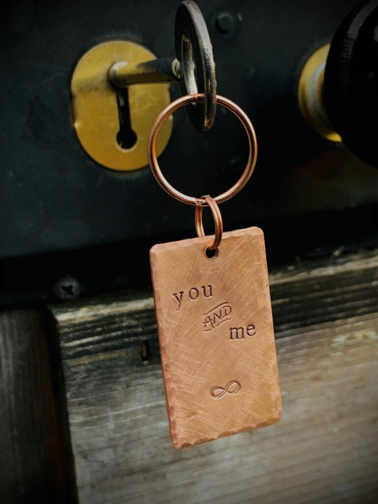 Upcycled Copper Key Ring - product image 3