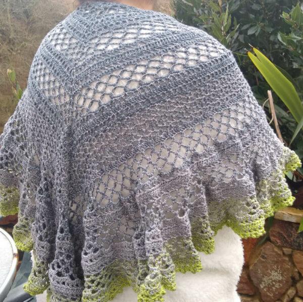 Jo's Lacy Crochet Shawl - product image 4