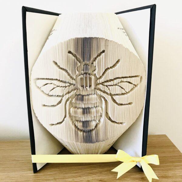 Bee Book Fold Art Birthday Gift Custom - main product image