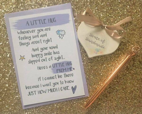 A Little Hug Postcard Thinking Of You Gift Mental Health Awareness Friendship - product image 3