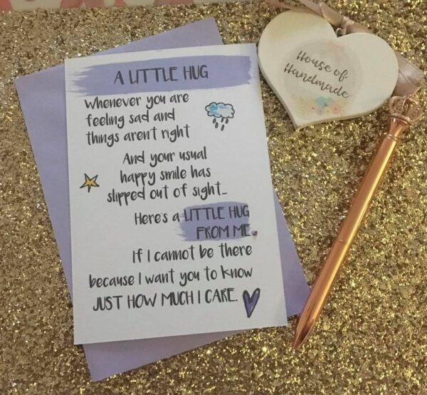 A Little Hug Postcard Thinking Of You Gift Mental Health Awareness Friendship - main product image