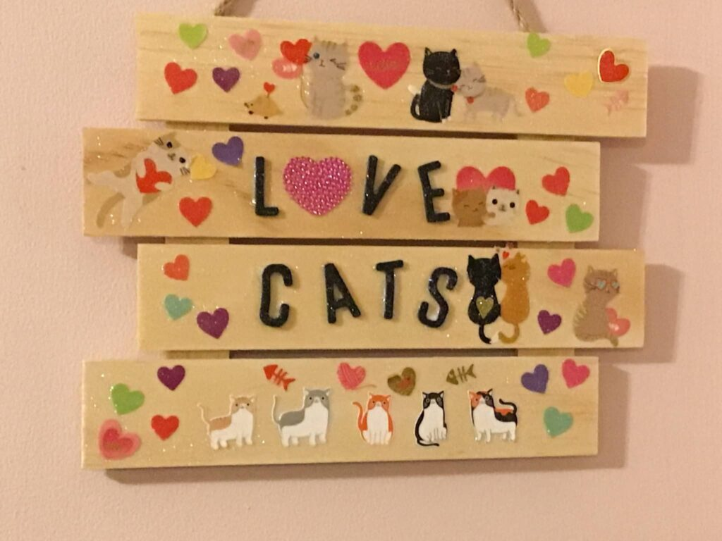 Love cats sign - main product image