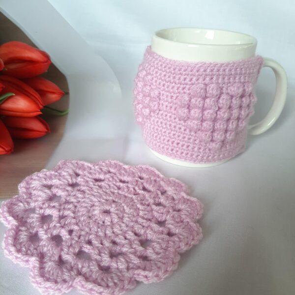 Heart patterned mug cosy - product image 5