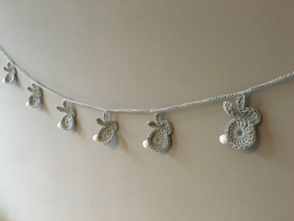 Bunny garland. Nursery decoration. - main product image