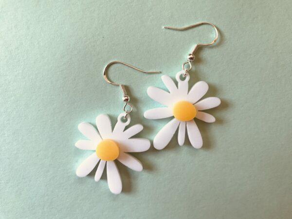 Daisy Earrings | Lasercut Acrylic Daisy Earrings | Daisy Flower Earrings - main product image