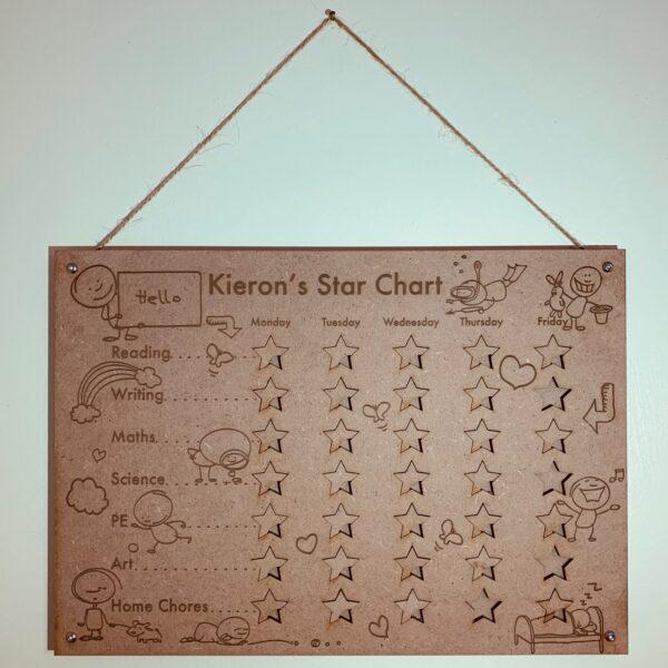 Personalised Reward Chart   Star Chart   Children's Reward Chart - product image 4