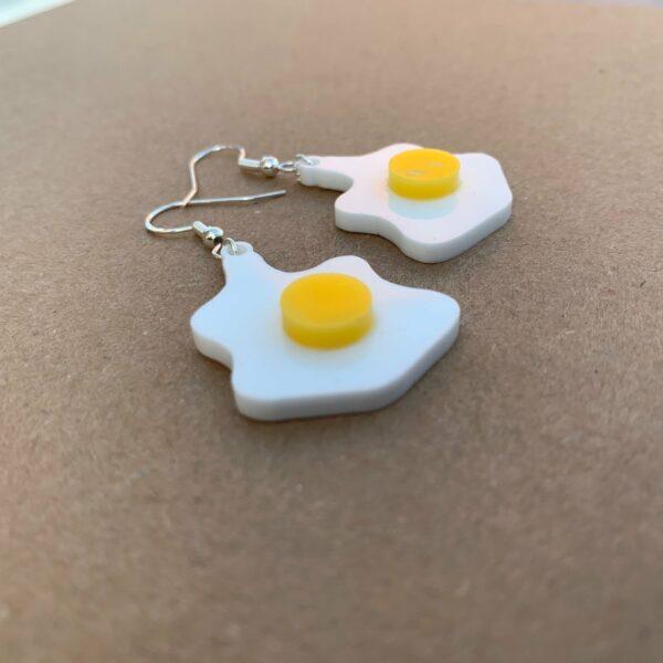 Fried Egg Earrings   Lasercut Acrylic Egg Earrings   Novelty Gift Earrings - product image 3
