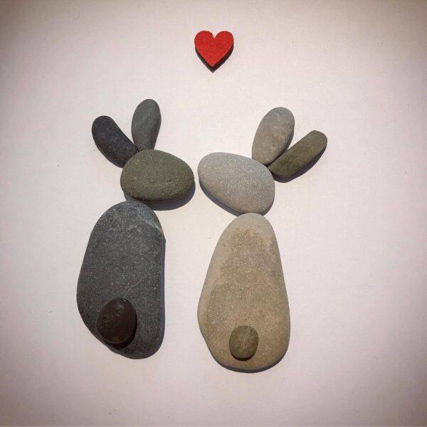 'Bunnies' Pebble Art Frame - main product image