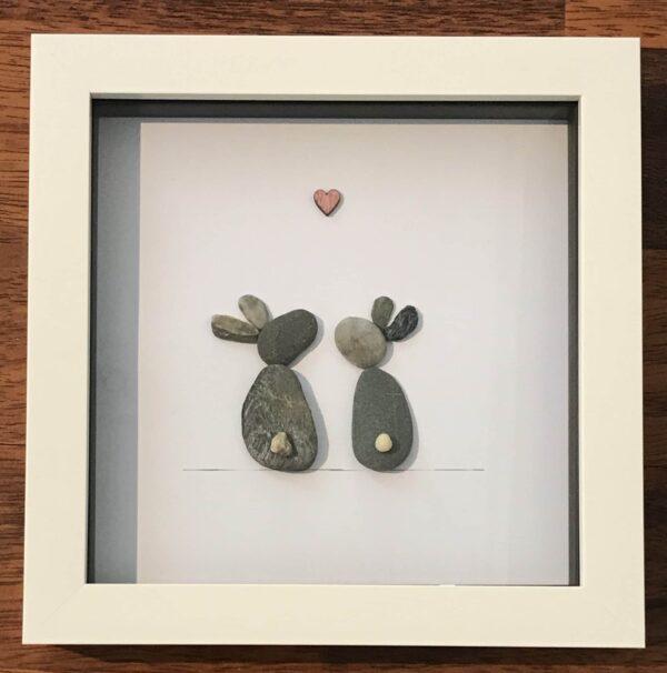 'Bunnies' Pebble Art Frame - product image 2