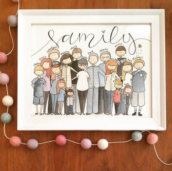 Bespoke, Hand Illustrated Family Portrait - product image 4