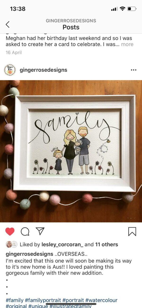 Bespoke, Hand Illustrated Family Portrait - product image 3