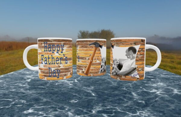 Hammer effect Father's day mug - main product image