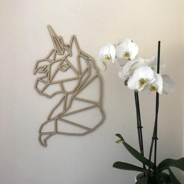 Unicorn Wall Hanging   Plywood Unicorn Wall Decor   Lasercut Unicorn - product image 2