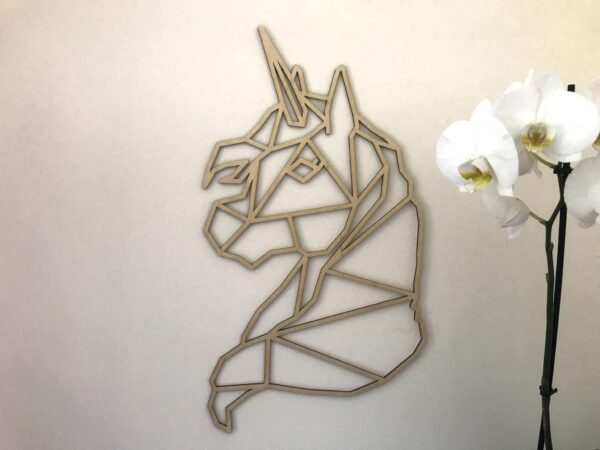 Unicorn Wall Hanging   Plywood Unicorn Wall Decor   Lasercut Unicorn - main product image