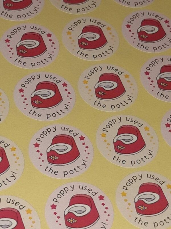 Toddler Potty / Toilet Training Reward Stickers / Labels x 48 - product image 3