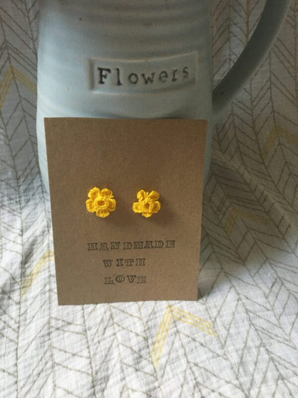 Daffodil crochet earrings - main product image