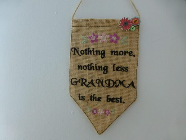 Best grandmother pennant – banner - main product image