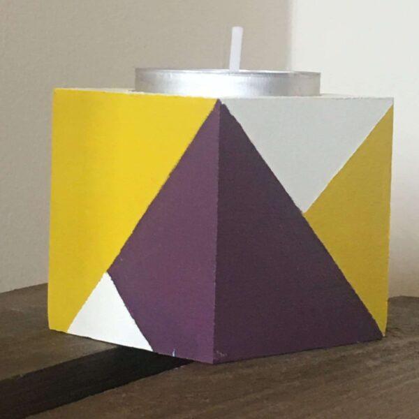 Colour block tea lights holders - product image 3