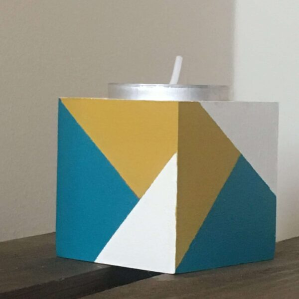 Colour block tea lights holders - product image 2