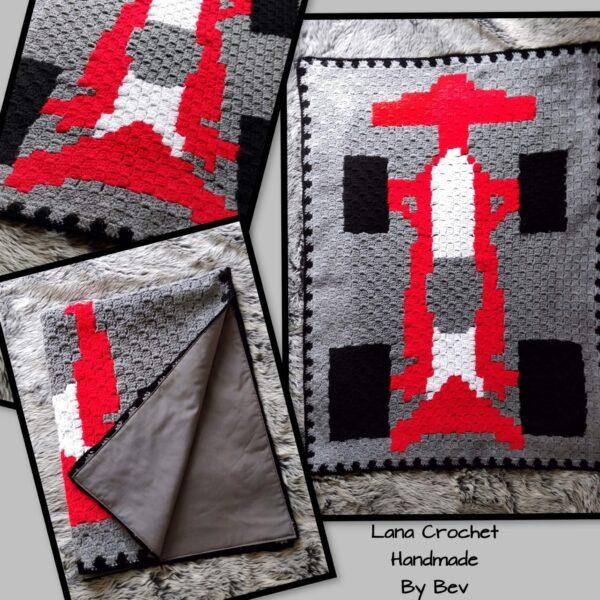 Crochet racing car blanket - main product image