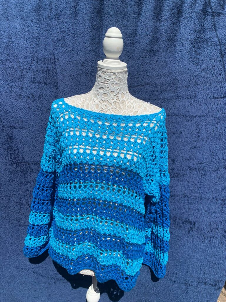 Blue summer top - main product image