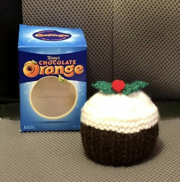 Xmas pudding chocolate orange cover - main product image