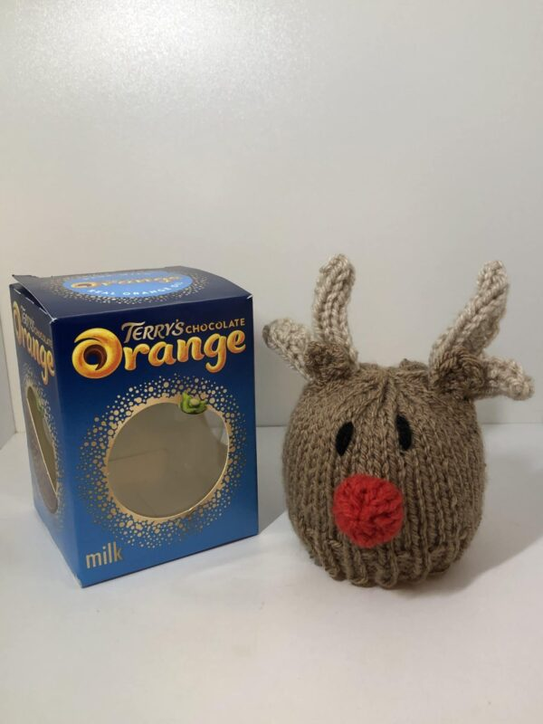 Xmas reindeer chocolate orange cover - main product image